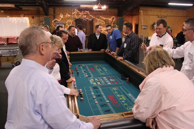 Guests enjoying casino games at a fundraiser